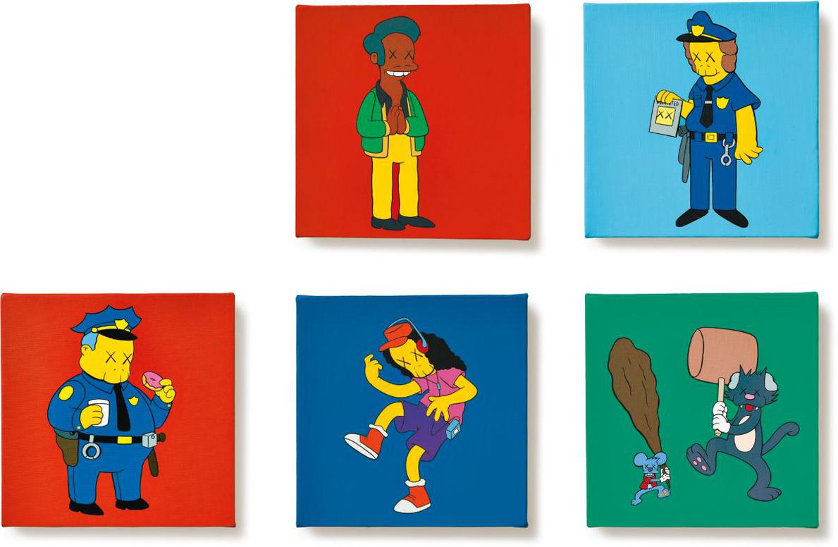KAWS-Kimpsons Series (Five Works)-2005