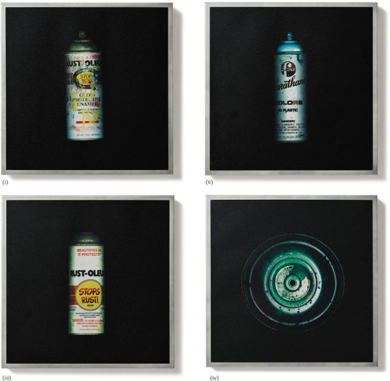 Stash-(i) New Rusto; (ii) Varathane; (iii) Stops Rust; (iv) Green Top (Four Works)-2002