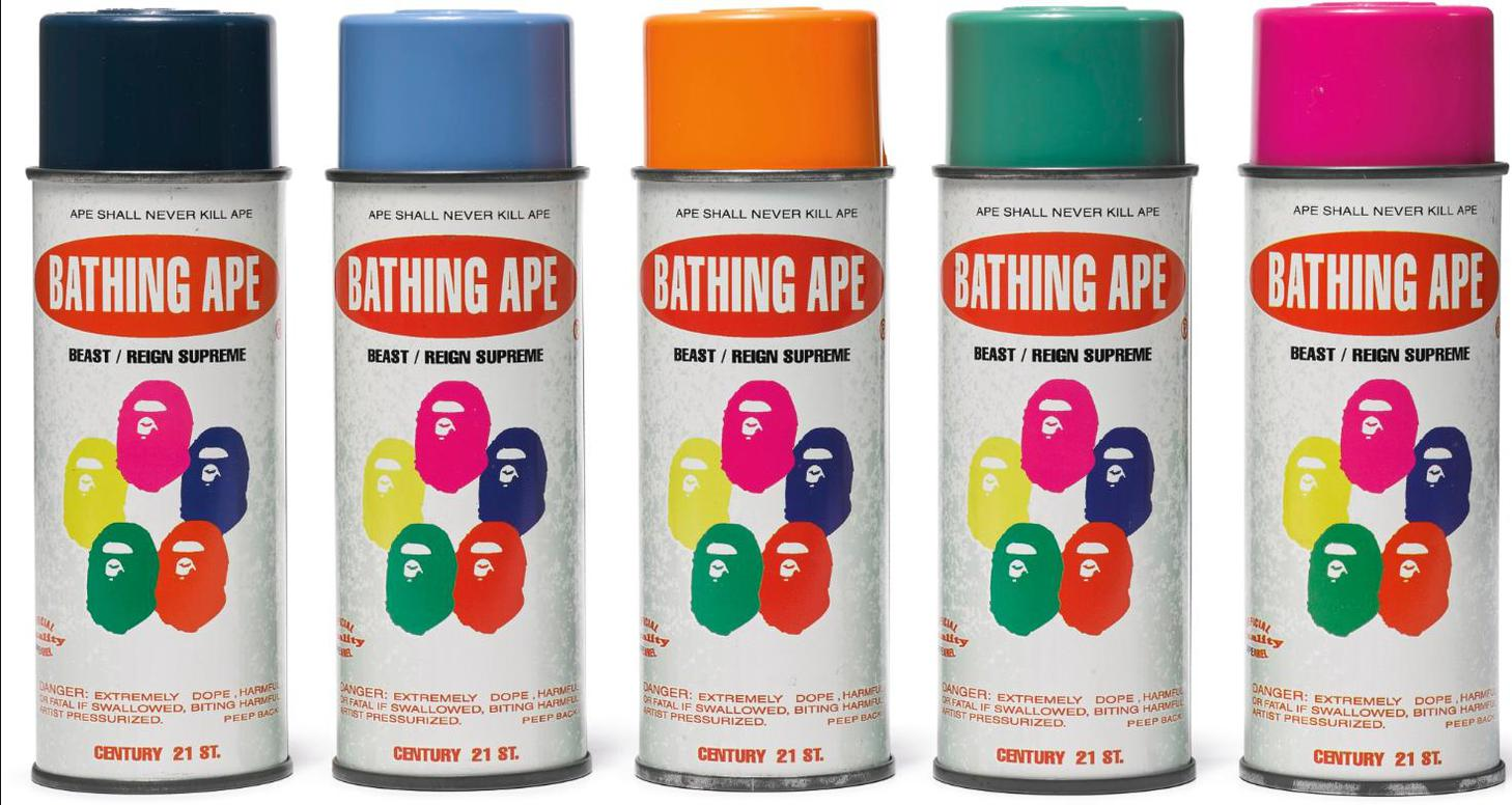 Bape X Stash - Spray Paint Cans (Set Of Five)-