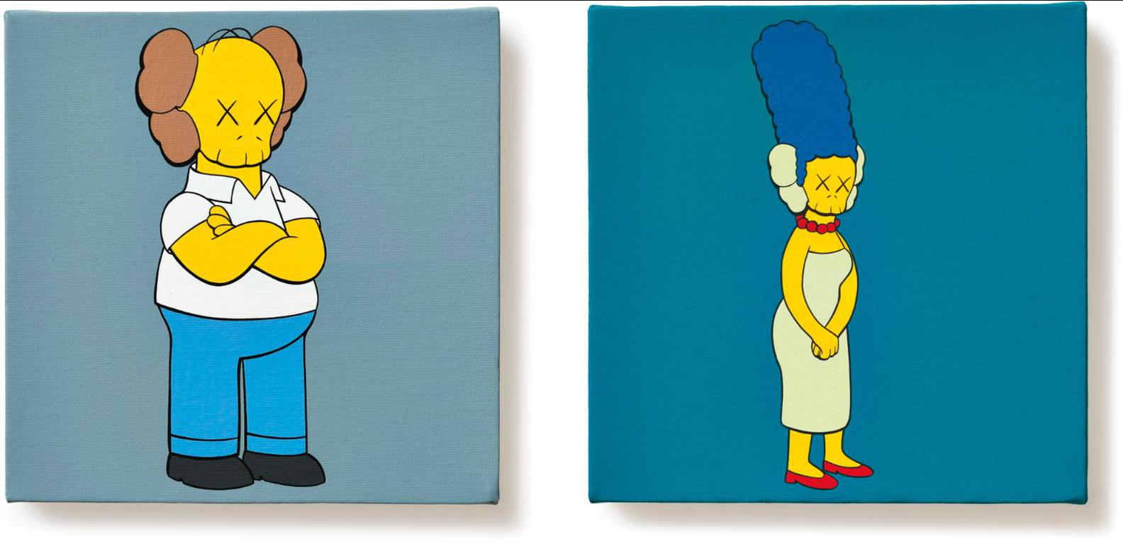 KAWS-Kimpsons Series (Two Works)-2005