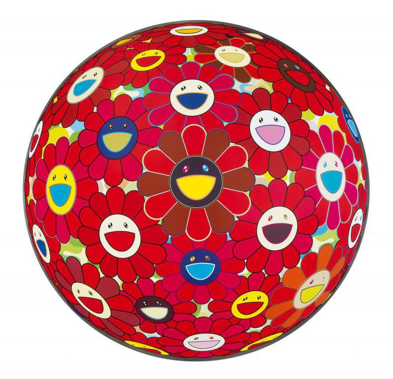 Takashi Murakami-Red Flower Ball (3-D)-