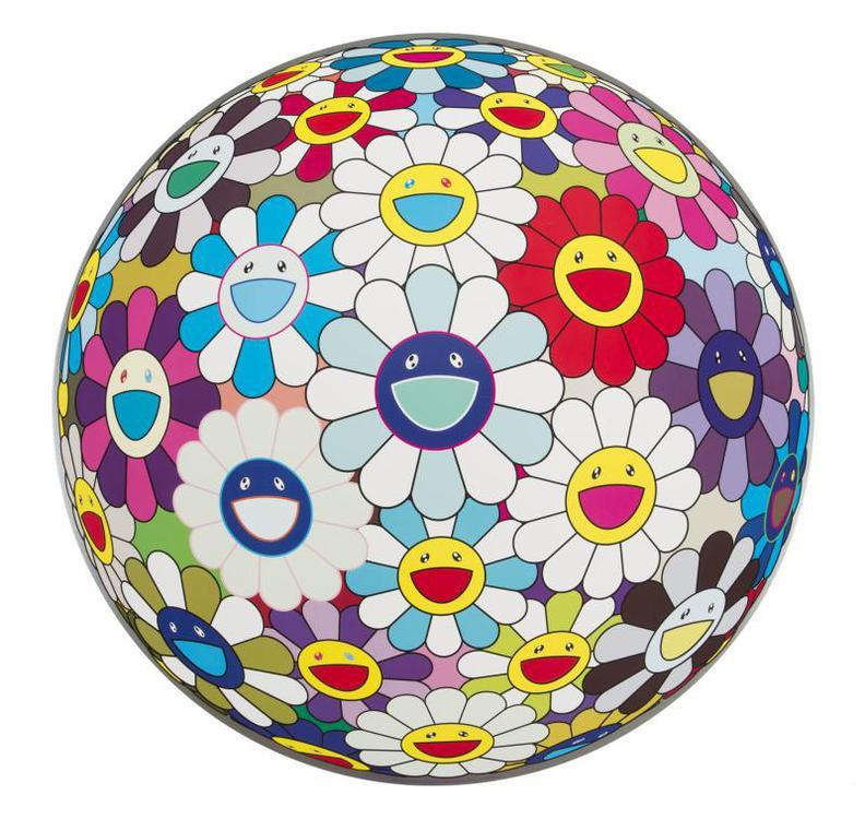 Takashi Murakami-Flower Ball (3-D) Sequoia Sempervirens-