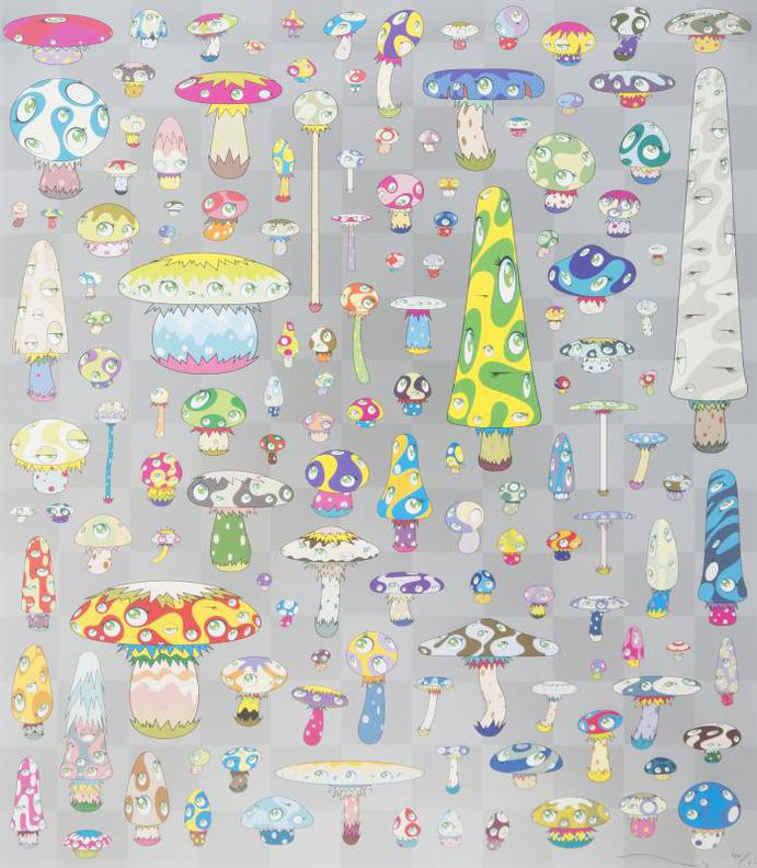 Takashi Murakami-Posi Mushroom-