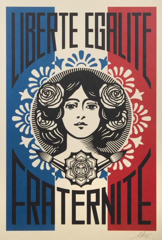 Shepard Fairey-Liberte, Egalite, Fraternite-2018