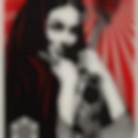 Shepard Fairey-Revolutionary Woman With Brush-2007