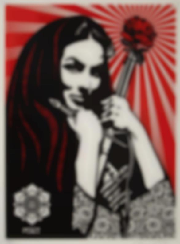 Shepard Fairey-Revolutionary Woman With Brush-2007