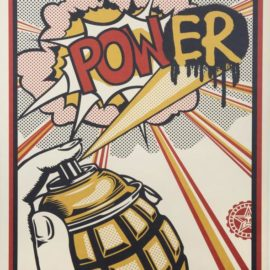 Shepard Fairey-Power (Lichtenstein Homage)-2013