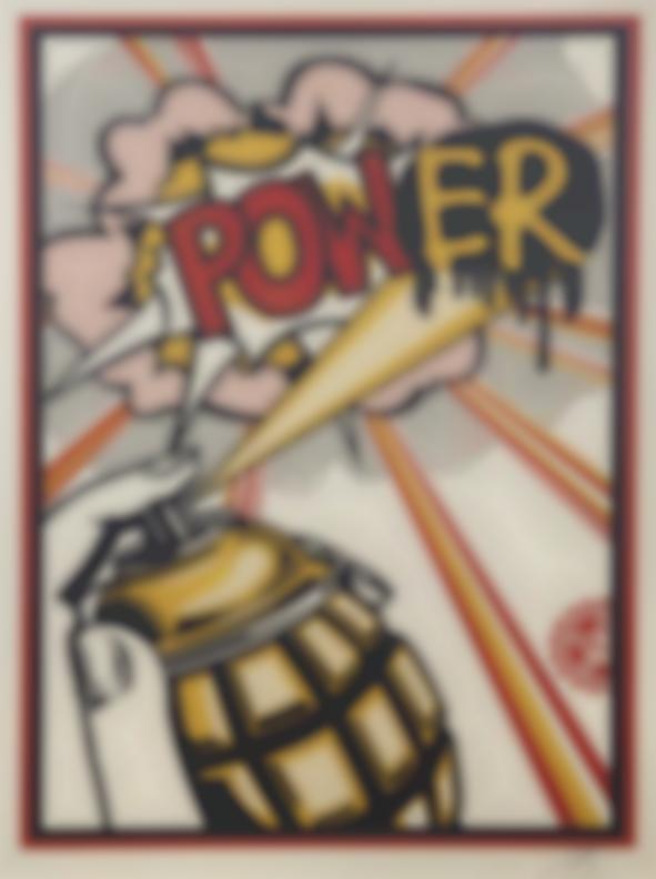 Shepard Fairey-Power (Lichtenstein Homage)-2013