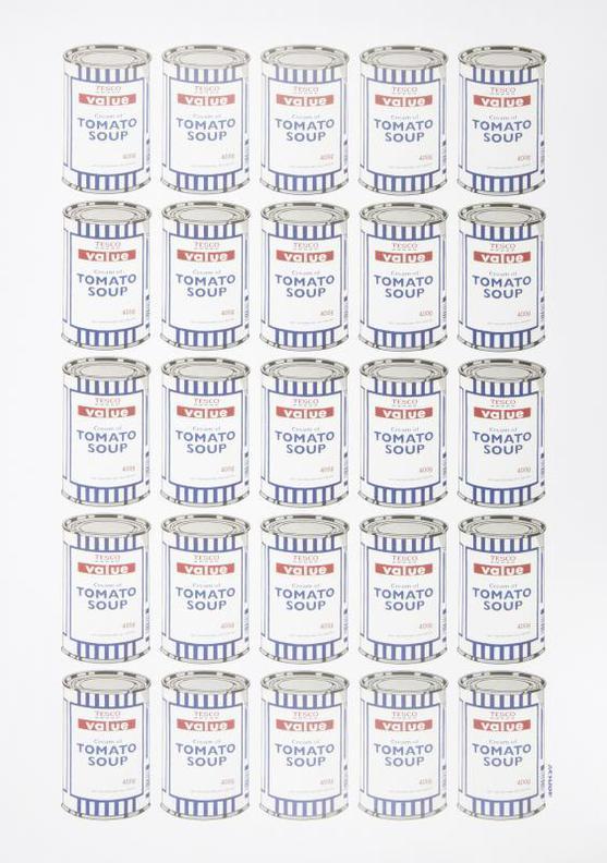 Banksy-Tesco Cream Of Tomato Soup Cans-