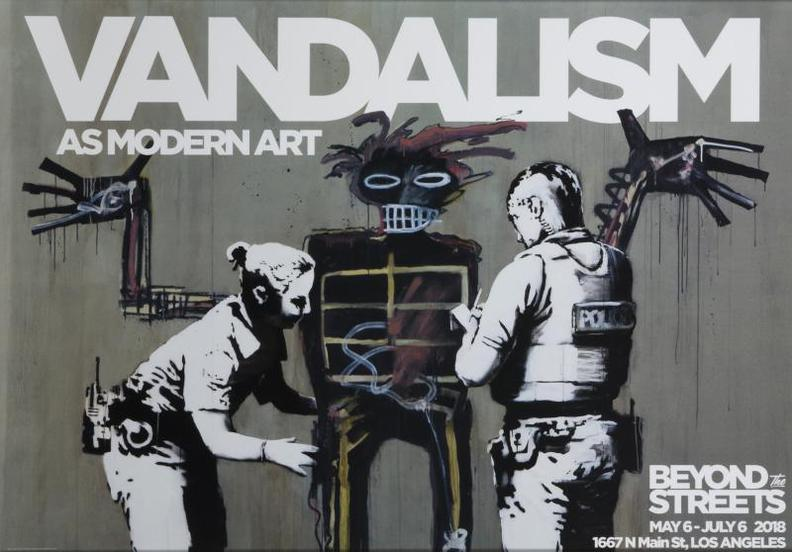 Banksy-Banksy X Basquiat: Vandalism As Modern Art (Beyond The Streets Exhibition Poster)-2018