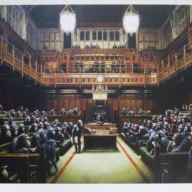 Banksy-Monkey Parliament-2009