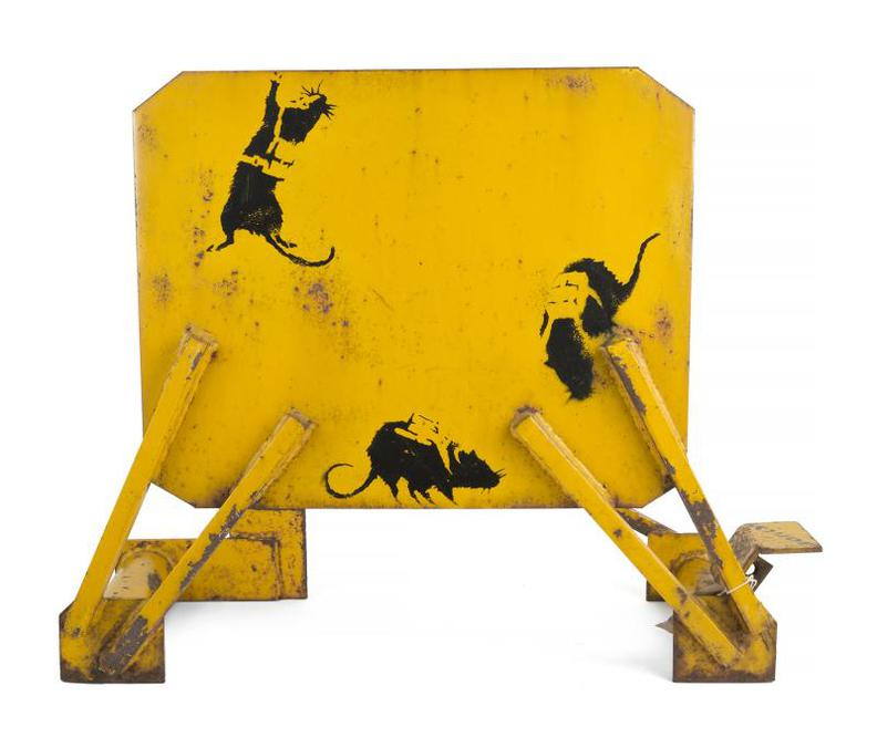 Banksy-Glastonbury Parachute Rats-2002