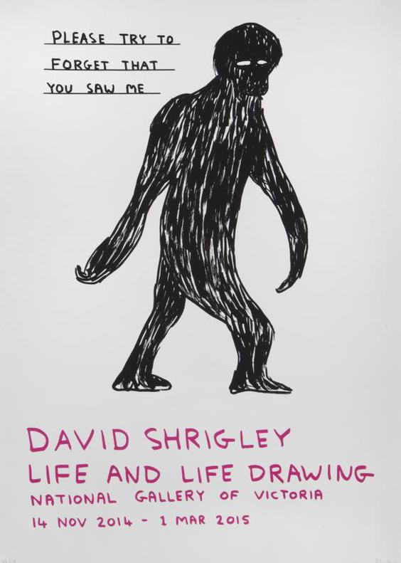 David Shrigley-Please Try To Forget That You Saw Me-2014