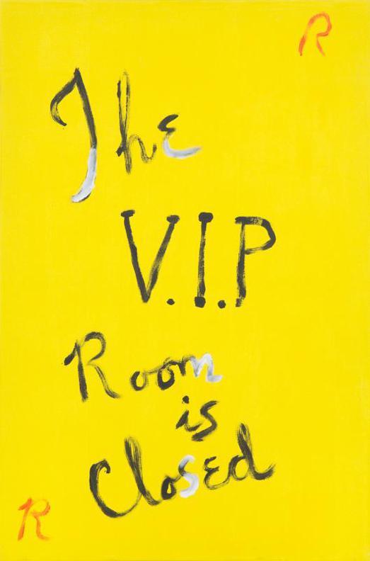 Rene Ricard-The V.I.P. Room Is Closed-