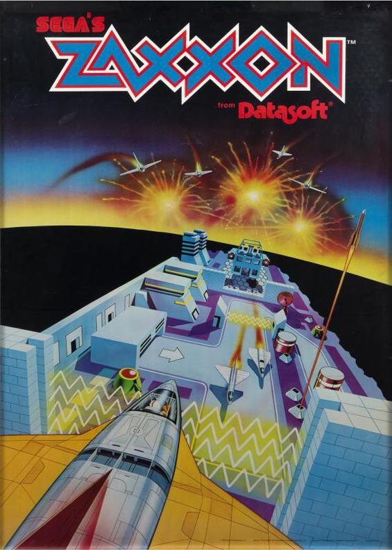 Zaxxon Poster - Segas Zaxxon From Datasoft-1983