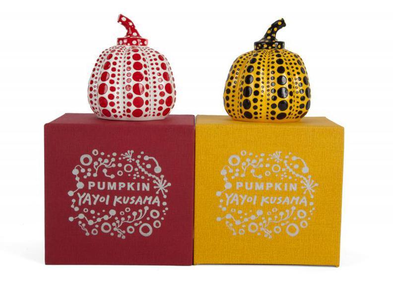 Yayoi Kusama-Pumpkins (Yellow And Red)-2013