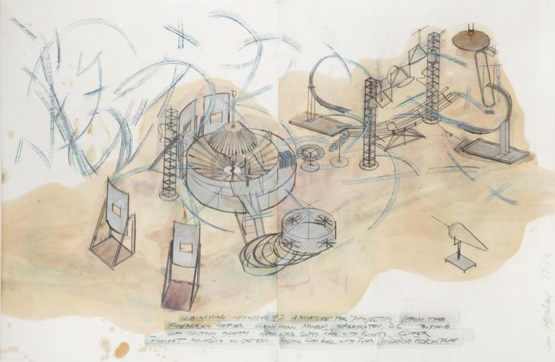 Dennis Oppenheim-Study For Launching Structure #2 - An Armature For Projection (From The Fireworks Series)-1981