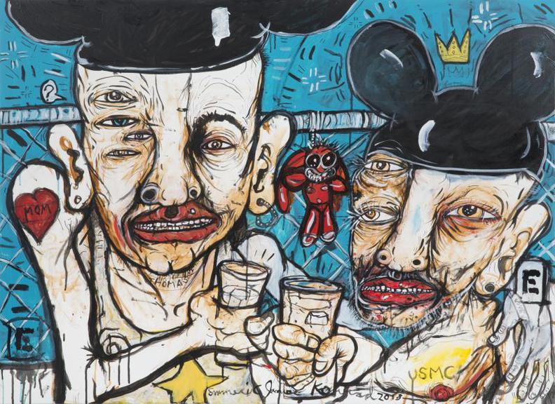 Emmeric Konrad - Friends Drinking On Skid Row-2018