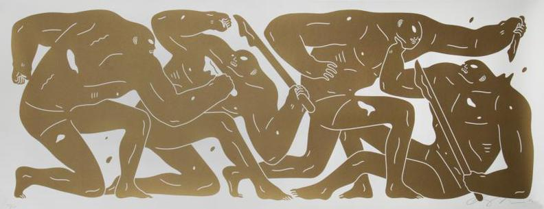 Cleon Peterson-The Return (Gold)-2016