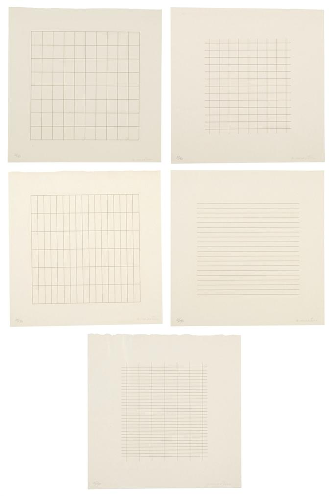 Agnes Martin-Each: On A Clear Day-1973