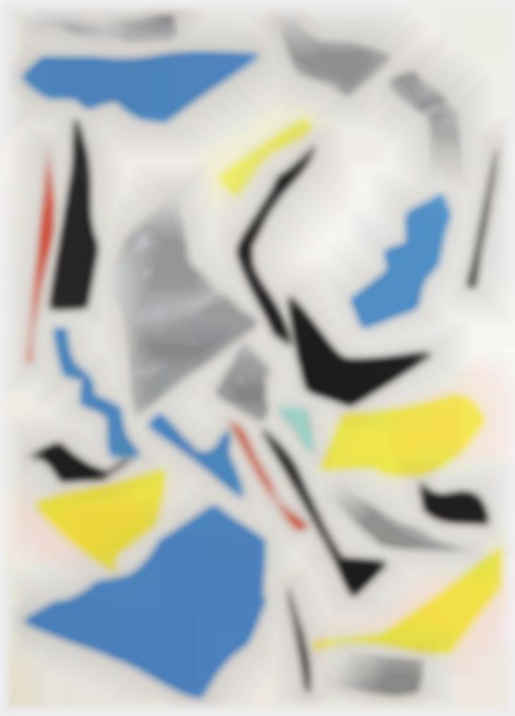 Imi Knoebel-Untitled (Messerschnitte) (Knife Cuts)-1977