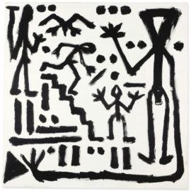 A.R. Penck-Man Descending Stairway-1982