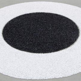 Richard Long-Black And White Circle-1988