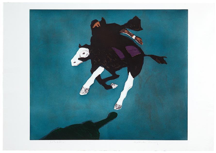 Fritz Scholder - Galloping Indian After Leigh-1979