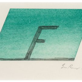 Ed Ruscha-F (Falling)-1993