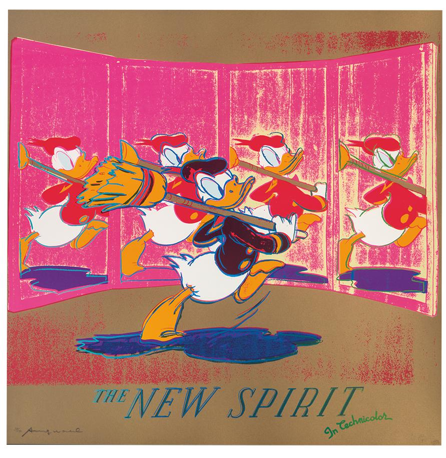 Andy Warhol-The New Spirit (Donald Duck) (From Ads)-1985