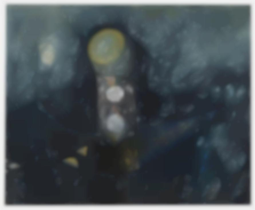 Craig Kauffman-Gray With Sun/Crescent Moon-1951