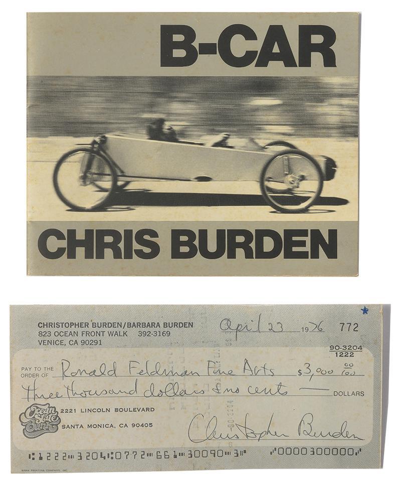 Chris Burden-Full Financial Disclosure; B-Car (2)-1977