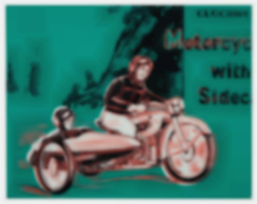 Andy Warhol-Motorcycle With Sidecar (From Toys Series)-1983