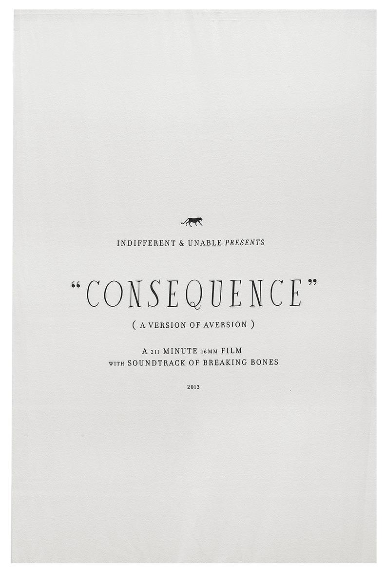 Matthew Brannon-Consequence-2013