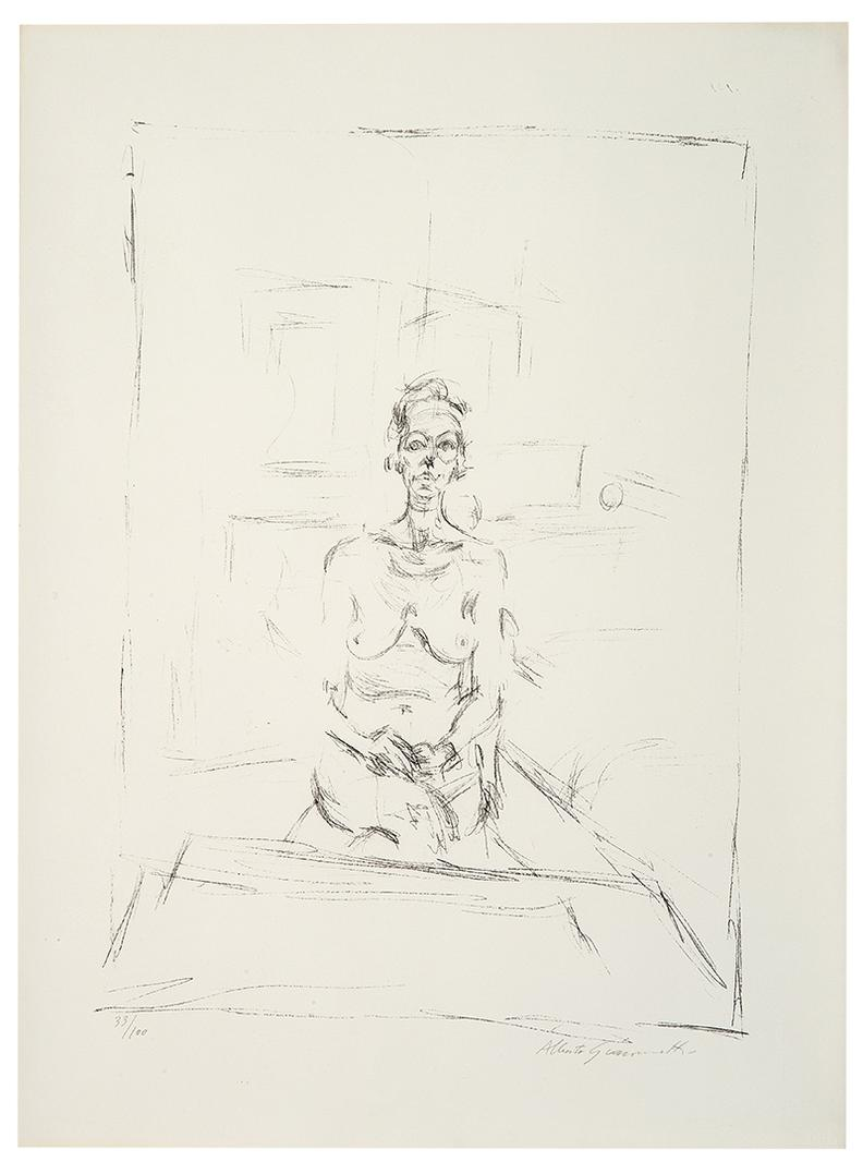 Alberto Giacometti-Nu Assis-1965