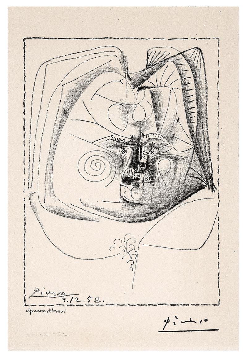 Pablo Picasso-Balzac Portrait-1952