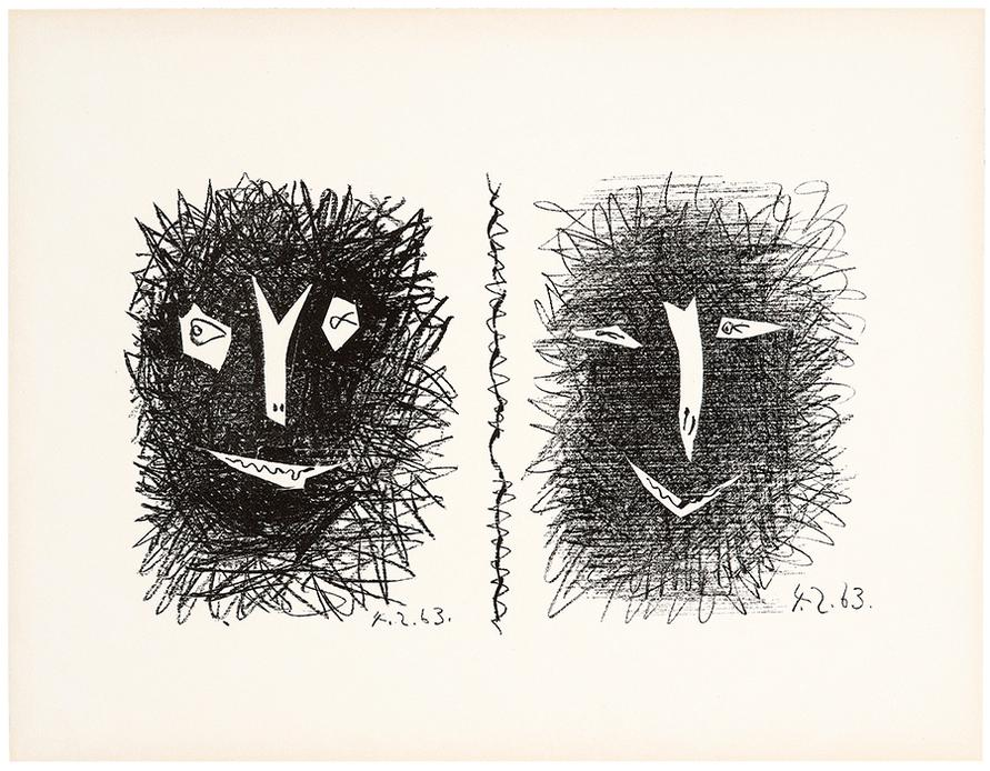 Pablo Picasso-Mourlot Cover IV-1963