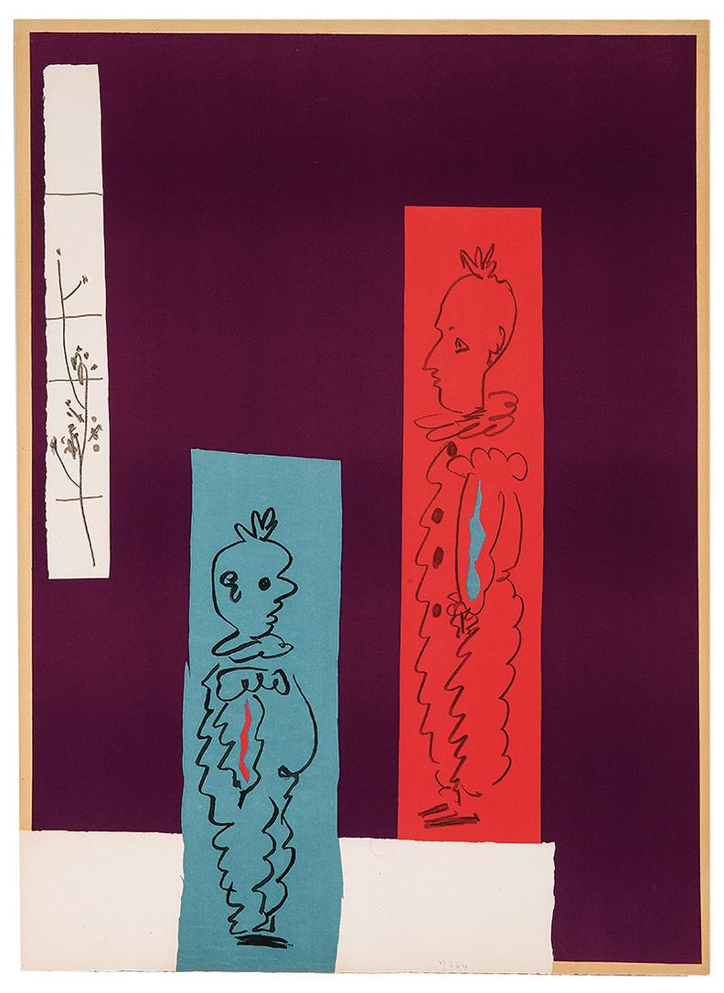 Pablo Picasso-Two Clowns-1954