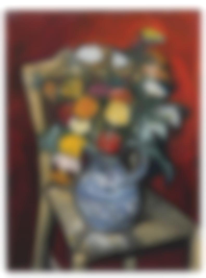 Samuel Marx - Still Life In A Blue Vase-1950