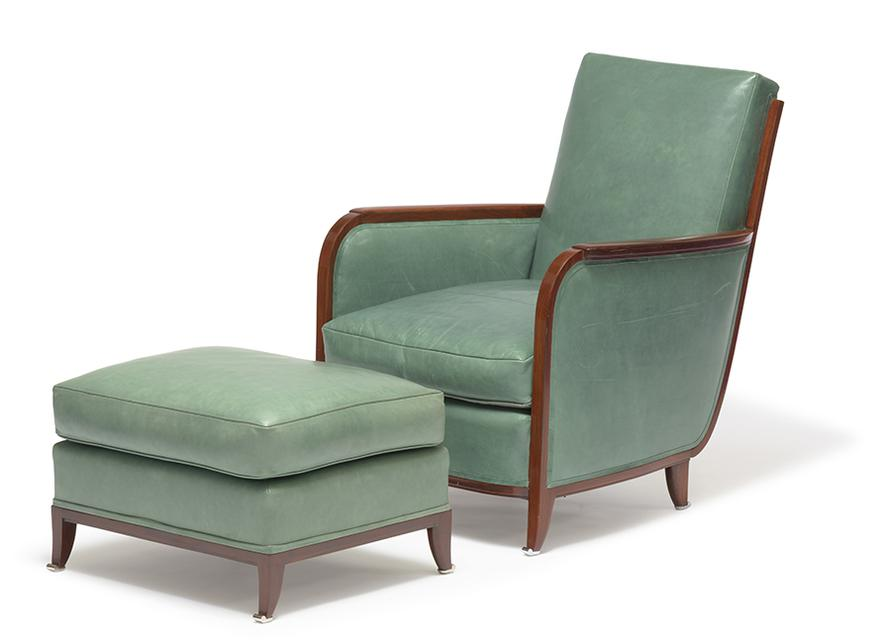 Pierre-Paul Montagnac - Club Chairs And Ottomans (4)-1930