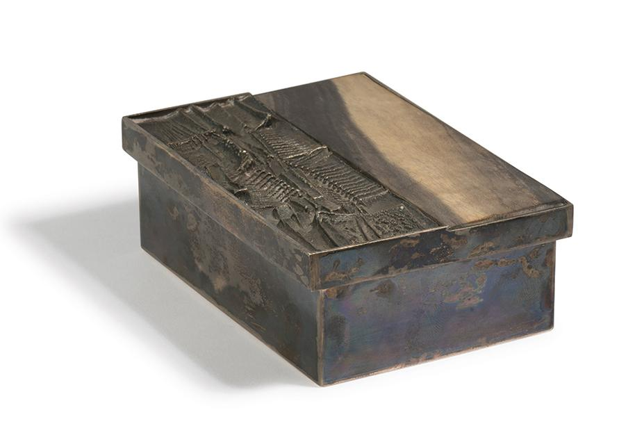 Arnaldo Pomodoro-Silver Box With Lid-1959