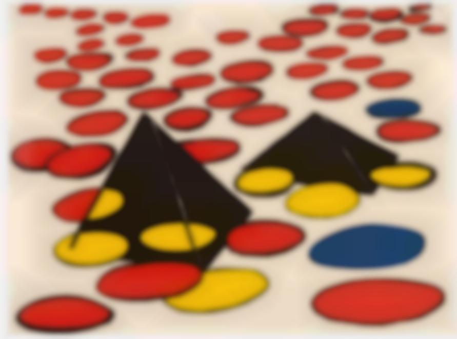 Alexander Calder-Black Pyramids-1974