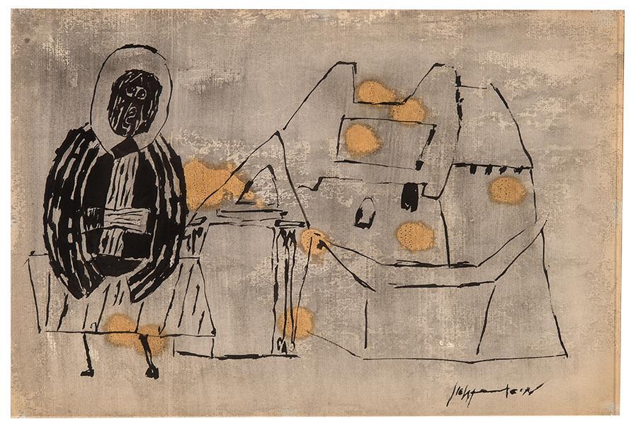 Roy Lichtenstein-St. Macarius Before His Monastery-1951
