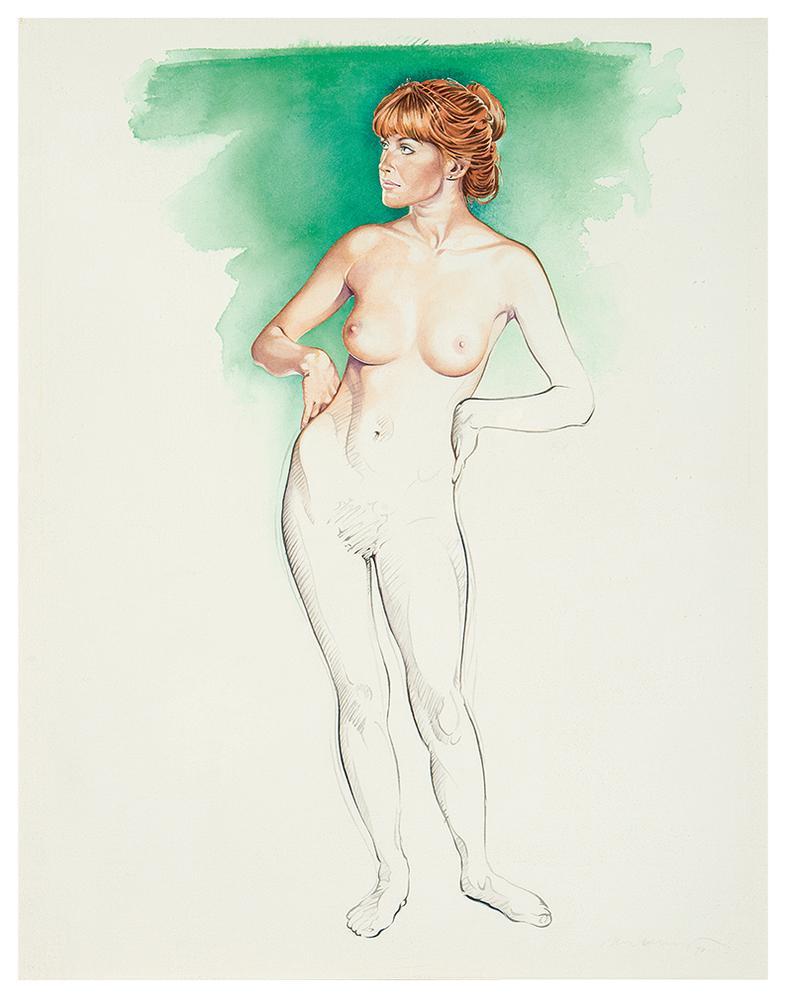 Mel Ramos-Unfinished Painting #1-1990