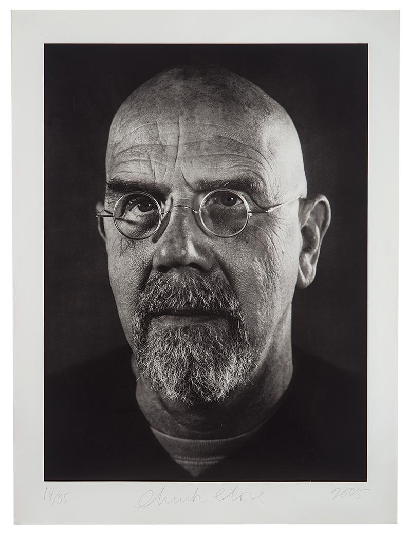 Chuck Close-Self-Portrait/Photogravure-2005