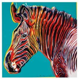 Andy Warhol-Grevys Zebra (From Endangered Species Portfolio)-1983