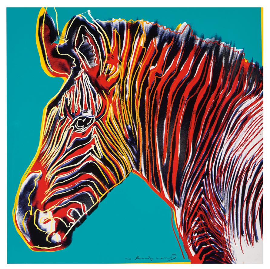 Andy Warhol-Grevys Zebra (From Endangered Species Portfolio)-1983