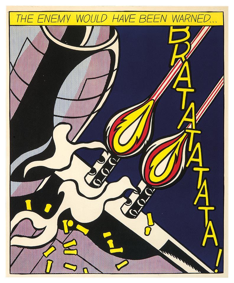 Roy Lichtenstein-As I Opened Fire (Triptych)-1966