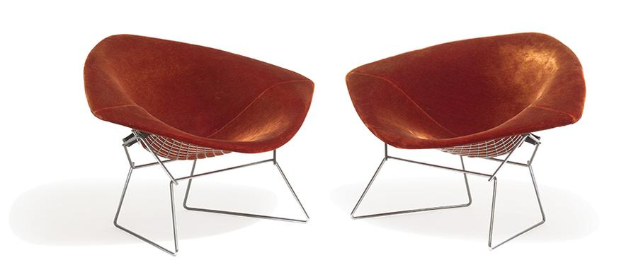 Harry Bertoia-Large Diamond Chairs (2)-1952