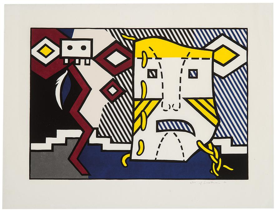 Roy Lichtenstein-American Indian Theme V (From The American Indian Theme Series)-1980